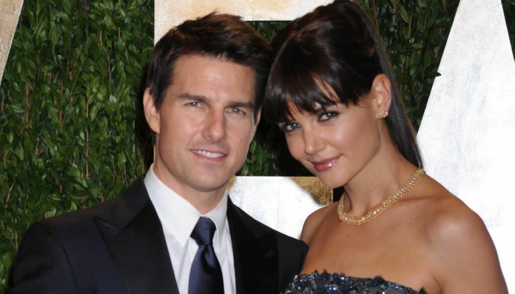 SKILLES: Seks år etter at de giftet seg, er ekteskapet over for Tom Cruise og Katie Holmes. Foto: All Over Press