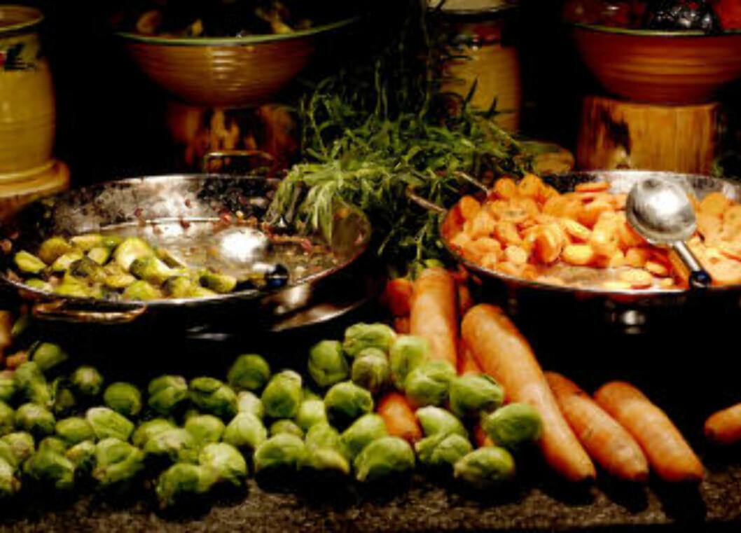 RÅVARER: Det satses på lokale råvarer og sunn mat på Marché Rygge. Foto: John Terje Pedersen