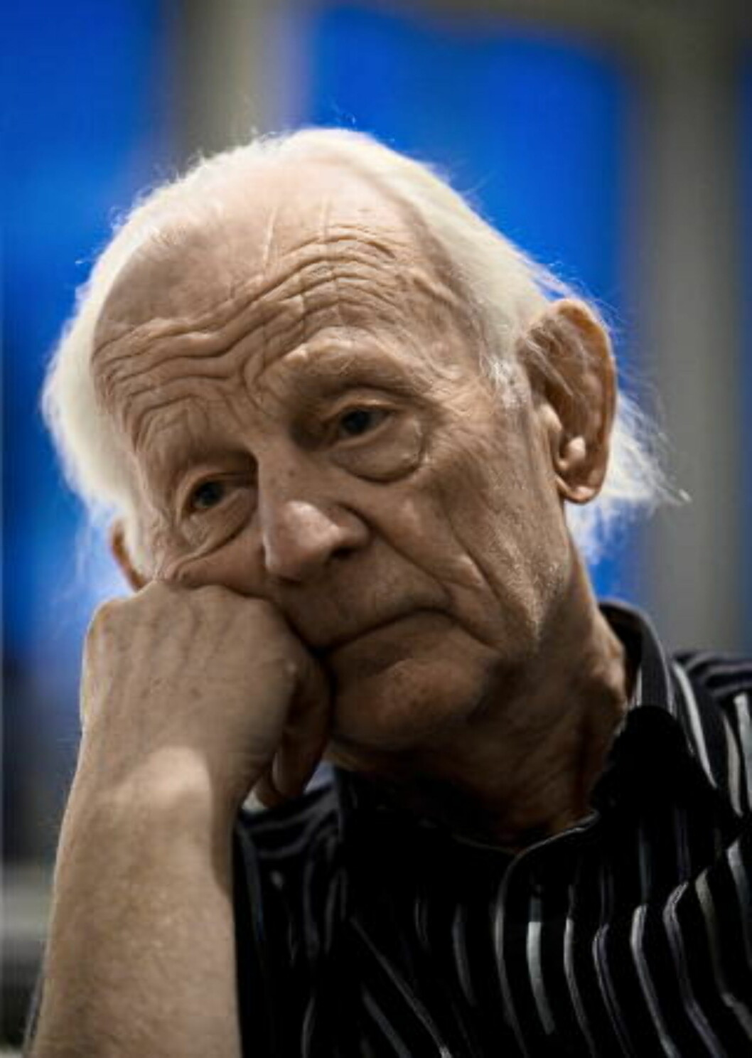 <strong>- STRÅLENDE INTELIGENT:</strong>Maler Håkon Bleken beskriver Arne Nordheim som en av sine beste venner og en strålende inteligent mann. Arkivfoto:  Jørn H. Moen/Dagbladet