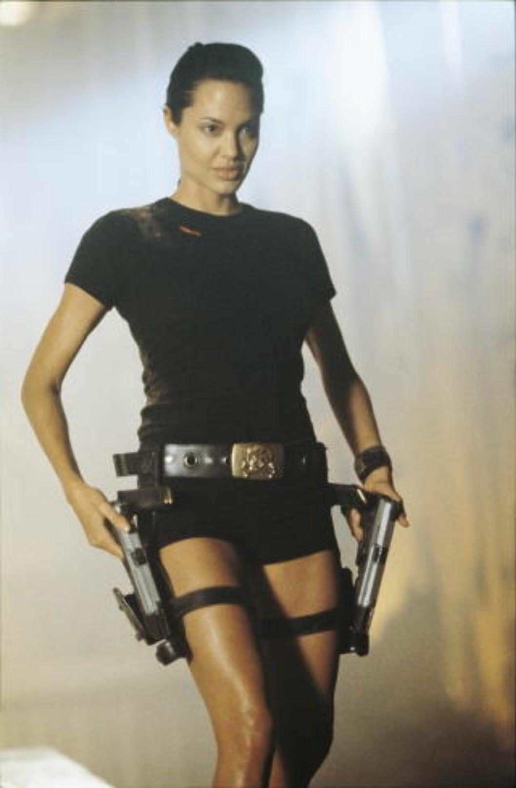 <strong>BEGYNNER Å BLI NOEN ÅR SIDEN:</strong> Angelina Jolie som Lara Croft.