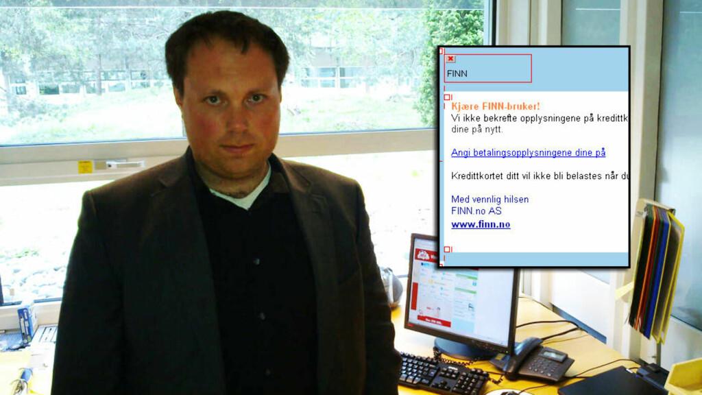 FORSØKT SVINDLET: Torkel Eng (31) ble utsatt for sleipe svindlere på Finn.no. Foto: Privat
