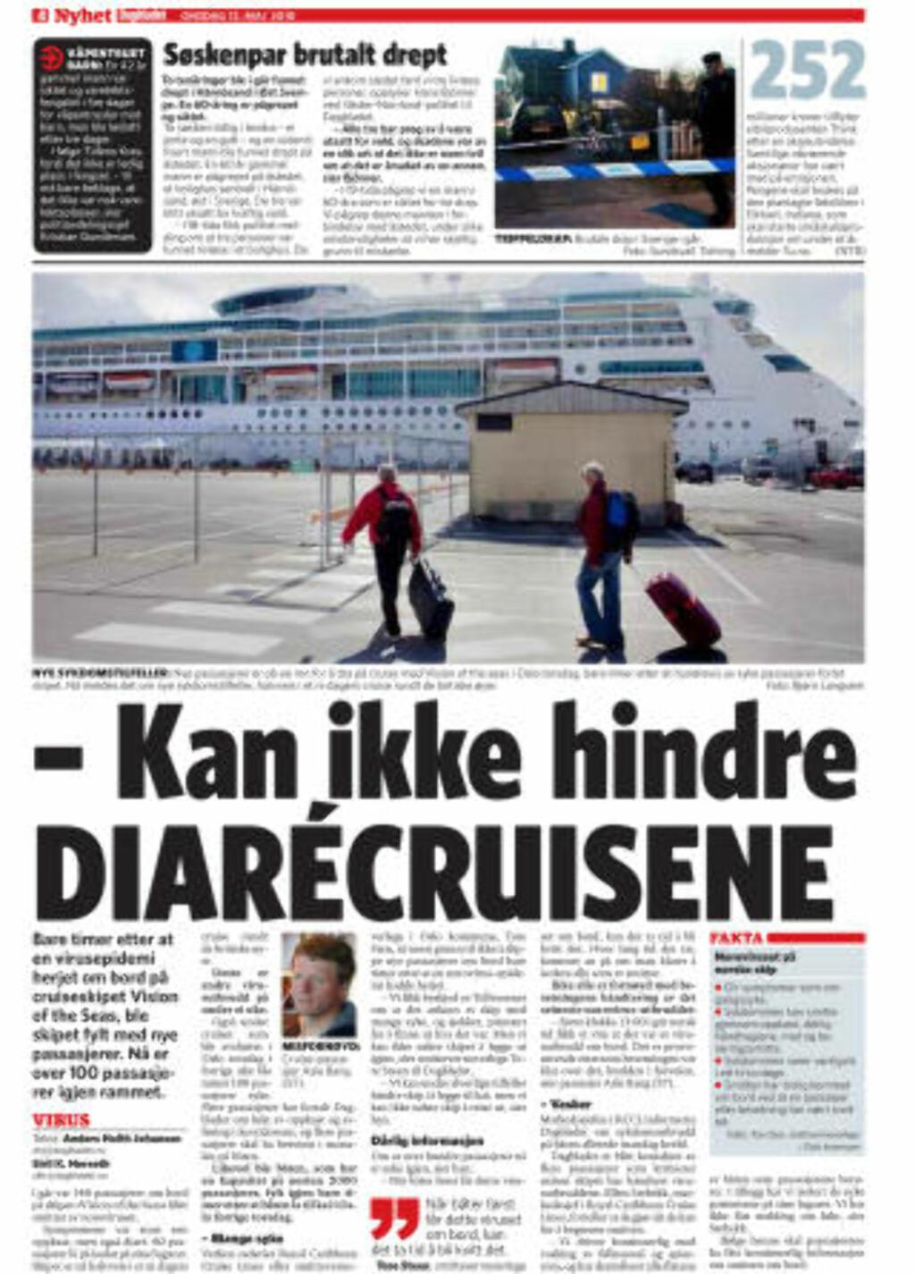Faksimile: Dagbladet, 12.05.10