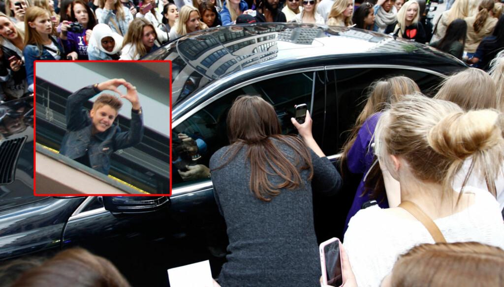 BEKYMRET: Justin Bieber er bekymret for de ville tilstandene i Oslo sentrum og ber fansen beherske seg for at ingen skal bli skadet. Foto: NTB Scanpix