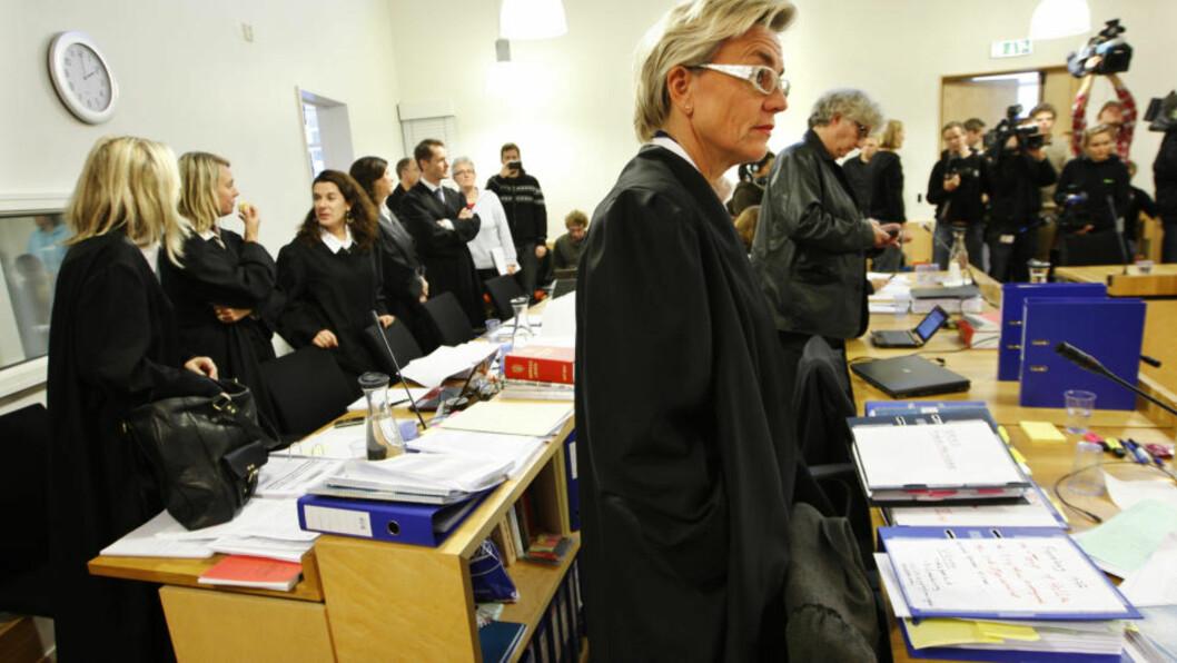 <strong>FORSVARER:</strong> Gunhild Lærum forsvarer Erik Andersen (58) i den pågående rettssaken. Foto: Scanpix