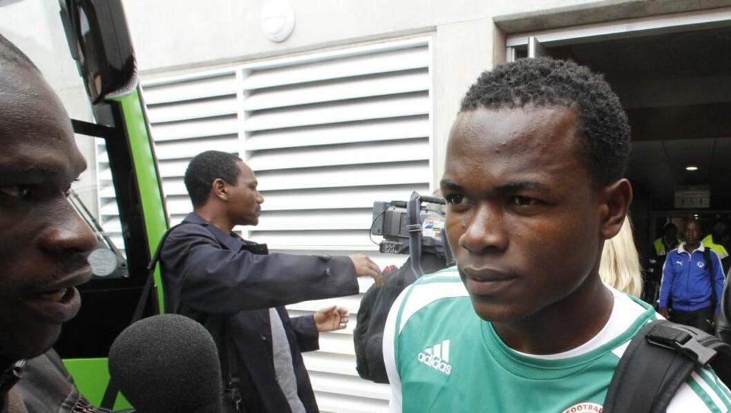 <strong>AFRIKANSK HÅP:</strong> Victor Obinna spiller for et av de afrikanske lagene som håper å gjøre et godt VM på eget kontinent. Hvilket? Foto: Rick Bowmer, AP/Scanpix