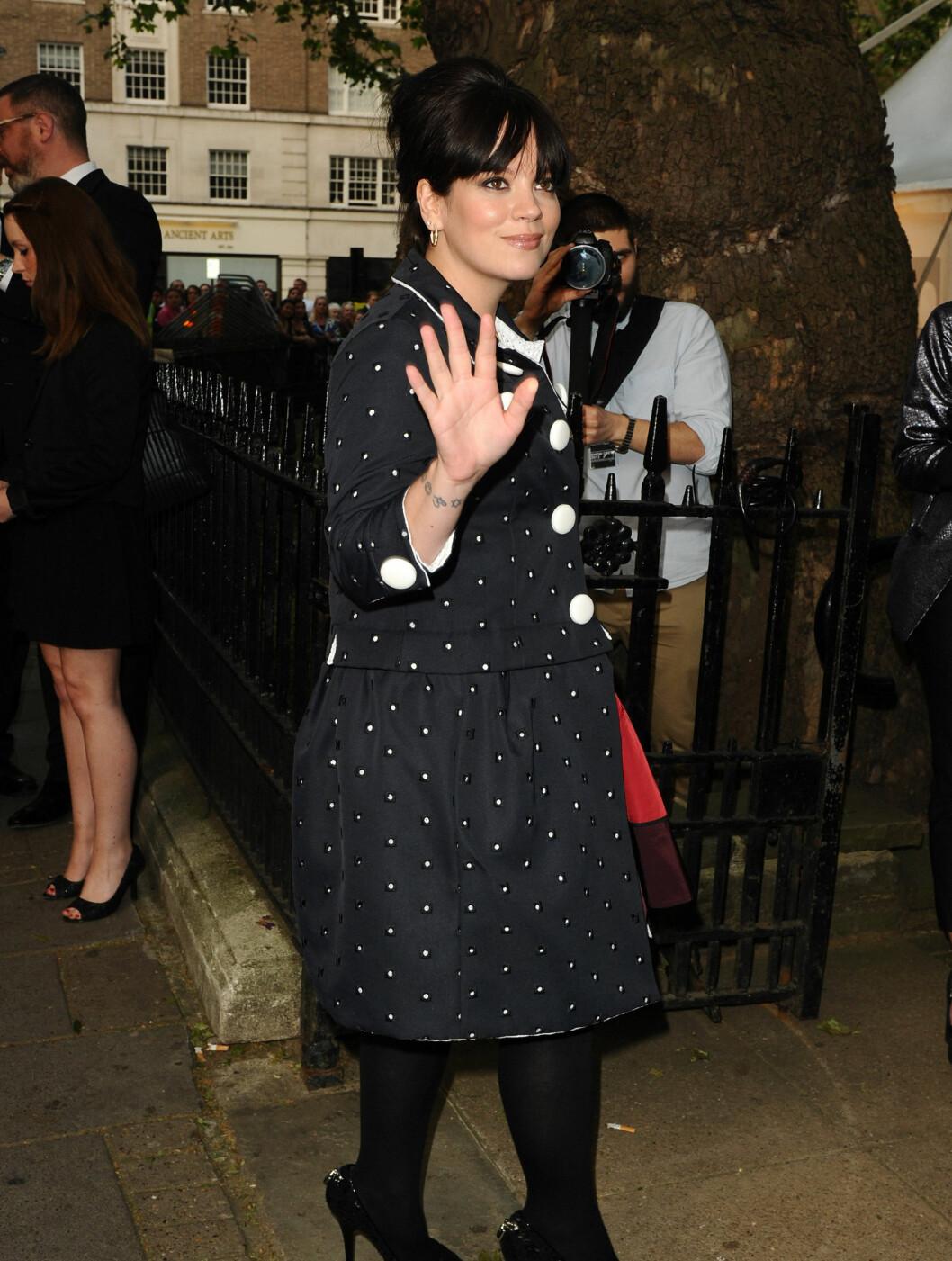 <strong>PÅ HJEMMEBANE:</strong> Lily Allen på galla i hjembyen London. Foto: Stella Pictures