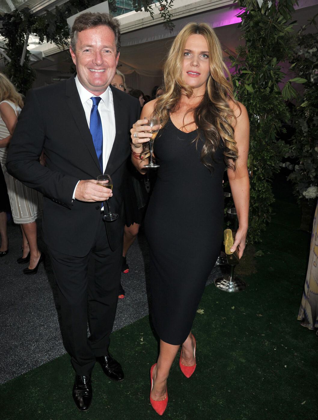 <strong>TV-STJERNE:</strong> Piers Morgan og Celia Walden på tirsdagens galla. Foto: Stella Pictures