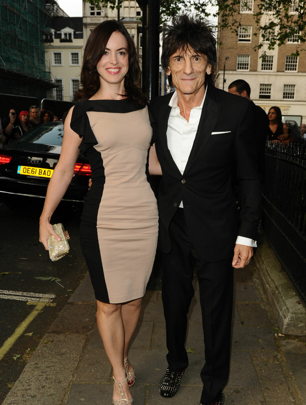 <strong>LEGENDE:</strong> Rolling Stones-legenden Ronnie Wood og Sally Humphreys.      Foto: Stella Pictures