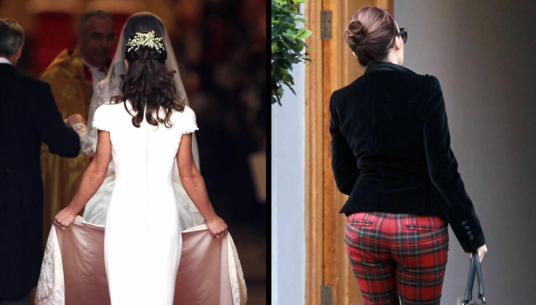 <strong>TØFF KAMP PÅ RØD LØPER:</strong> Pippa Middleton utfordres av Kylie Minogue til en rumpeduell når de mandag møtes for å feire dronning Elisabeths 60 år på tronen i Storbritannia.