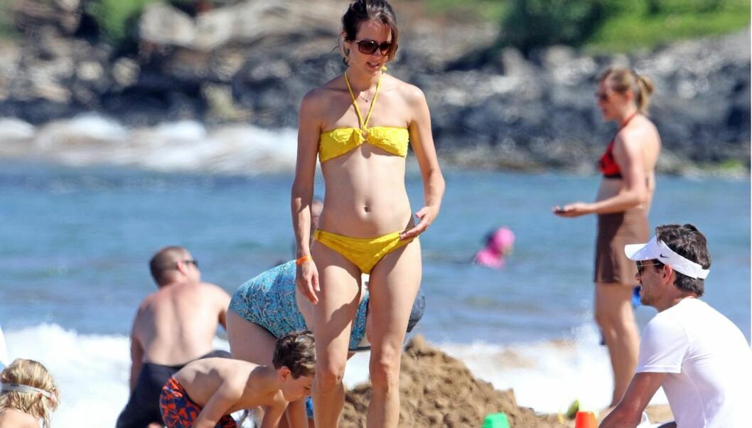 PÅ BADEFERIE: Acker hadde med seg familien på badeferie til Hawaii. Foto: All Over Press
