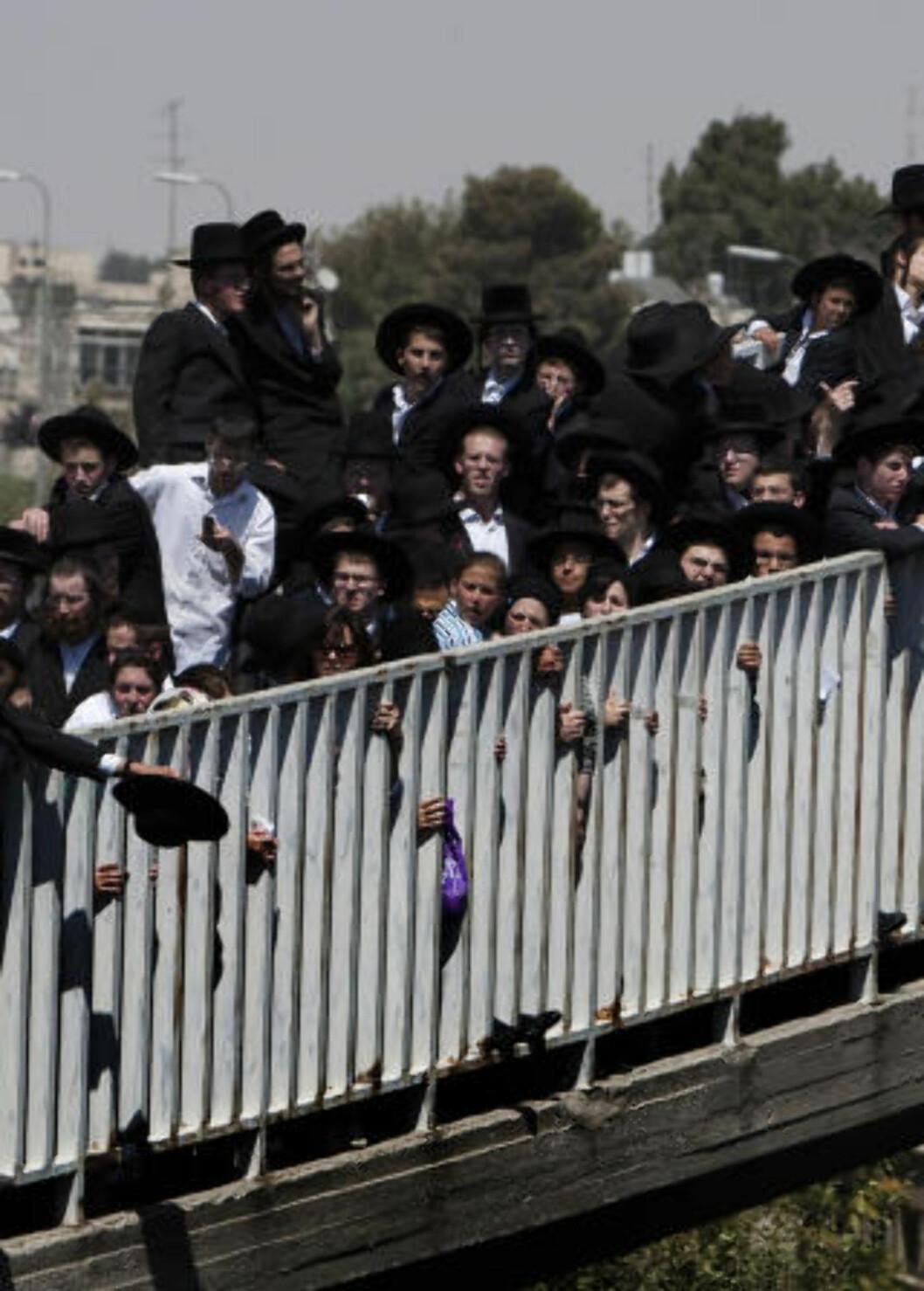 <strong>PROTESTERTE:</strong> Ultraortodokse jøder. Foto: AFP