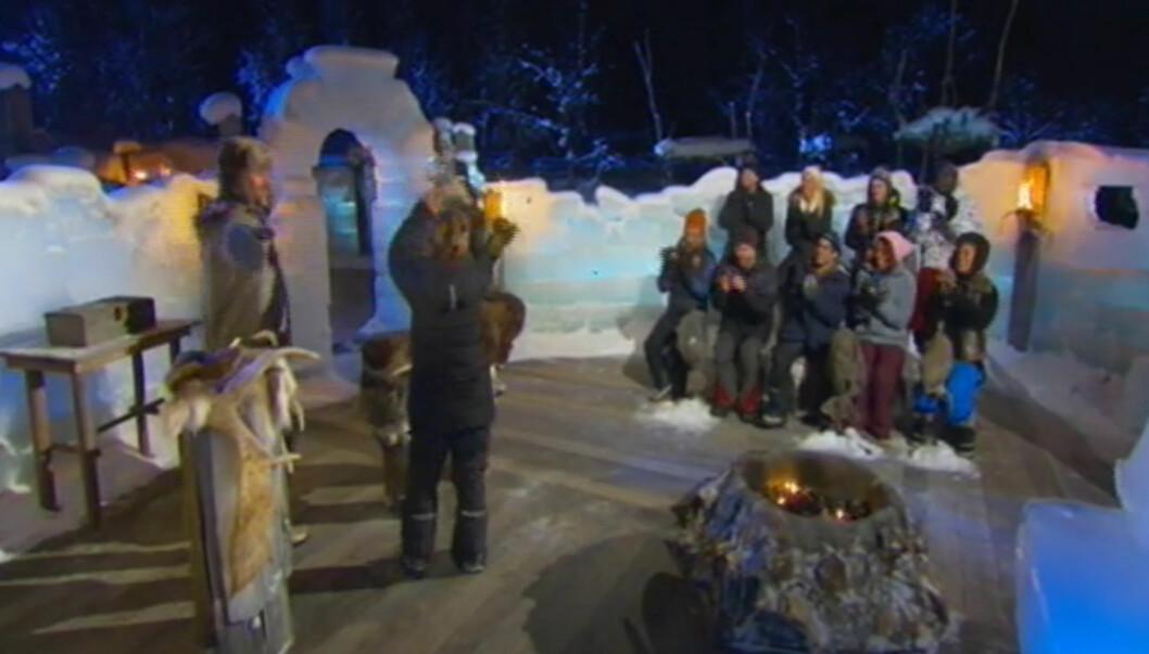SUVEREN SEIER: Elisabeth Nielsen kunne glede seg over å ha fått alle stemmene i det siste isrådet i årets vinter-Robinson, som ga henne premien på 300 000 kroner. Foto: TV3