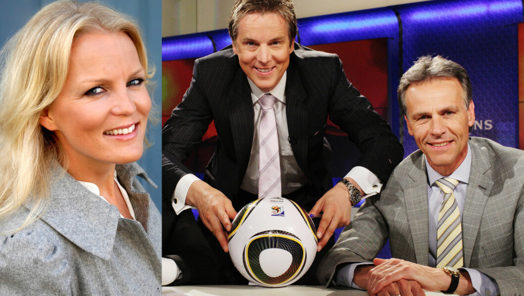 BYTTER KANAL: Guro Fostervold blir kollega med Jan Åge Fjørtoft og Rune Bratseth. Foto: TV 2/Viasat