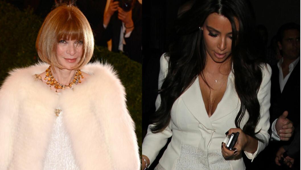 BANNLYST AV DJEVELEN: Anna Wintour er redaktør for bladet Vogue, og er kjent for å være meget streng. Filmen «The Devil Wears Prada» er basert på henne. Nå har hun bannlyst Kim Kardashian. Foto: All over press