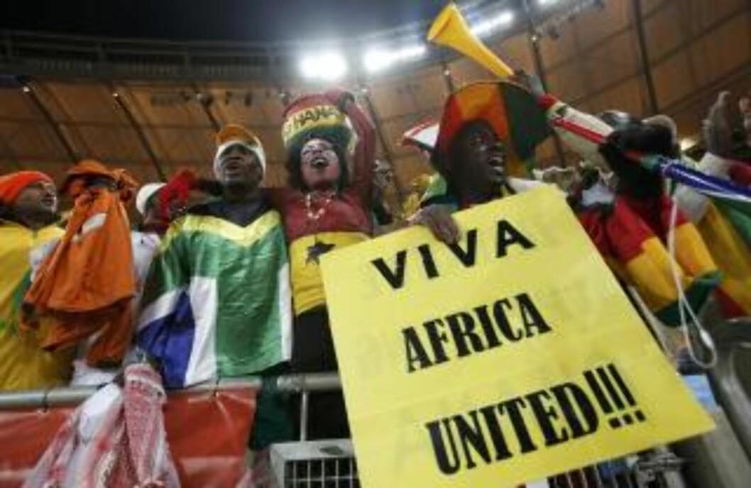 <strong>VIKTIG FOR AFRIKA:</strong> Ghana blir etter all sannsynlighet Afrikas eneste representant i åttedelsfinalene. Da kommer et helt kontinent til å stille seg bak «Black Stars».Foto: SCANPIX