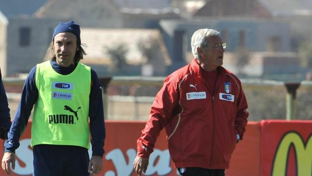 SKADD: Andrea Pirlo starter på benken når Marcello Lippi og Italia møter Slovakia. Foto: EPA/CIRO FUSCO