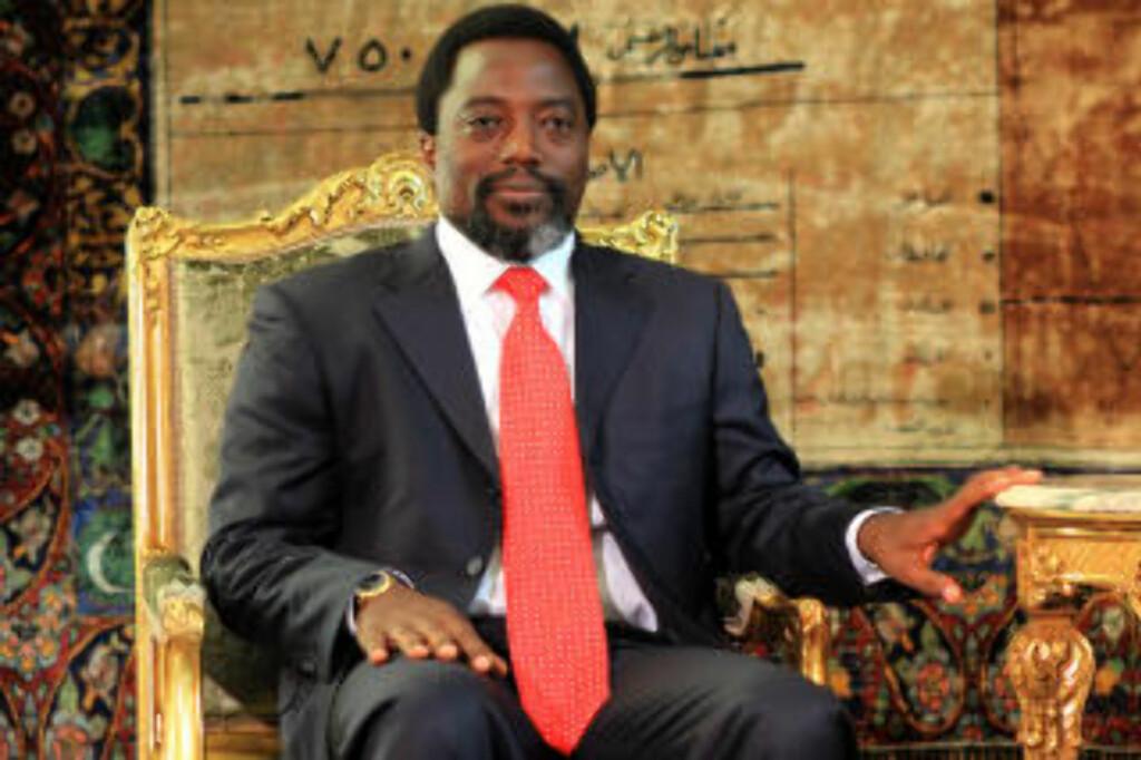 FÅR BREV: President Joseph Kabila kan benåde nordmennene. Foto: AFP Photo/Khaled Desouki/Scanpix
