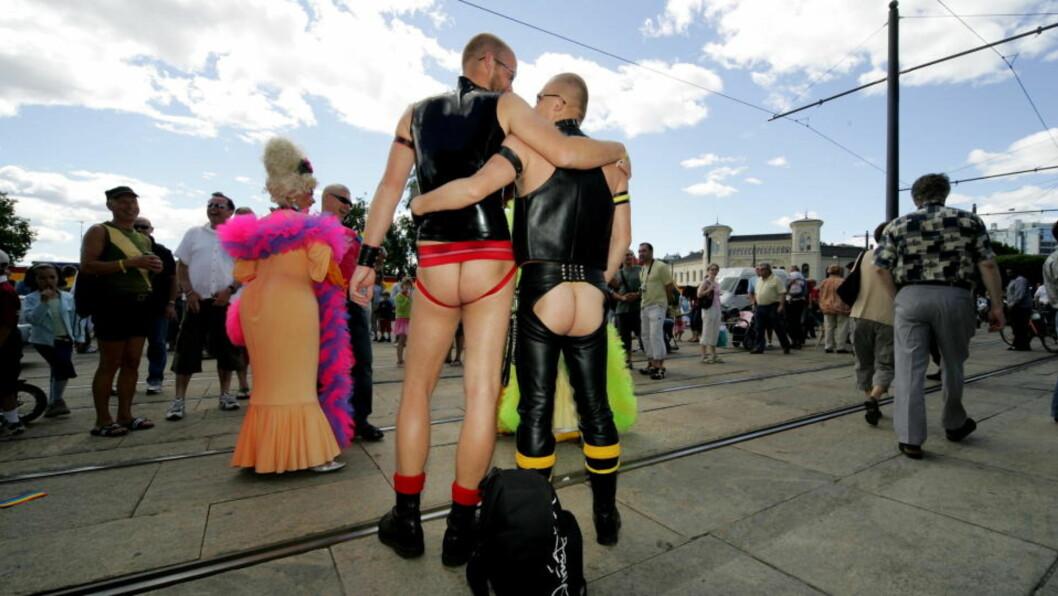 <strong>NYE TIDER:</strong> Homobevegelsens neste runde er kampen mot sortering og snever kategorisering i kjønn og seksualitet. Det bør bli flere homoparader i hverdagen. Foto: Eirik Helland Urke / Dagbladet