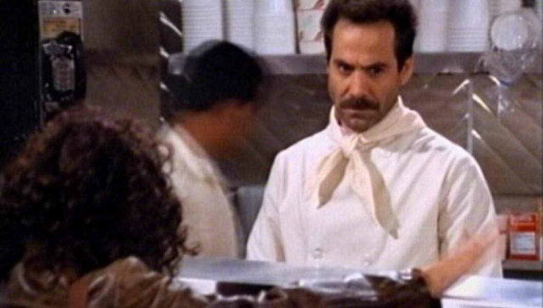 BERØMT SUPPE: Larry Thomas ble berømt for den berømte replikken «No Soup For You!» i TV-suksessen «Seinfeld».