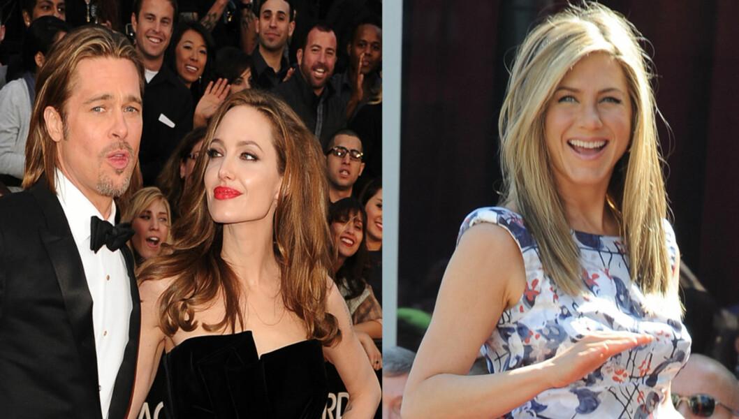 NABOKRANGEL: Dersom Jennifer Aniston flytter inn ved siden av Angelina Jolie og Brad Pitt i London kan det føre til krangel.  Foto: All Over Press
