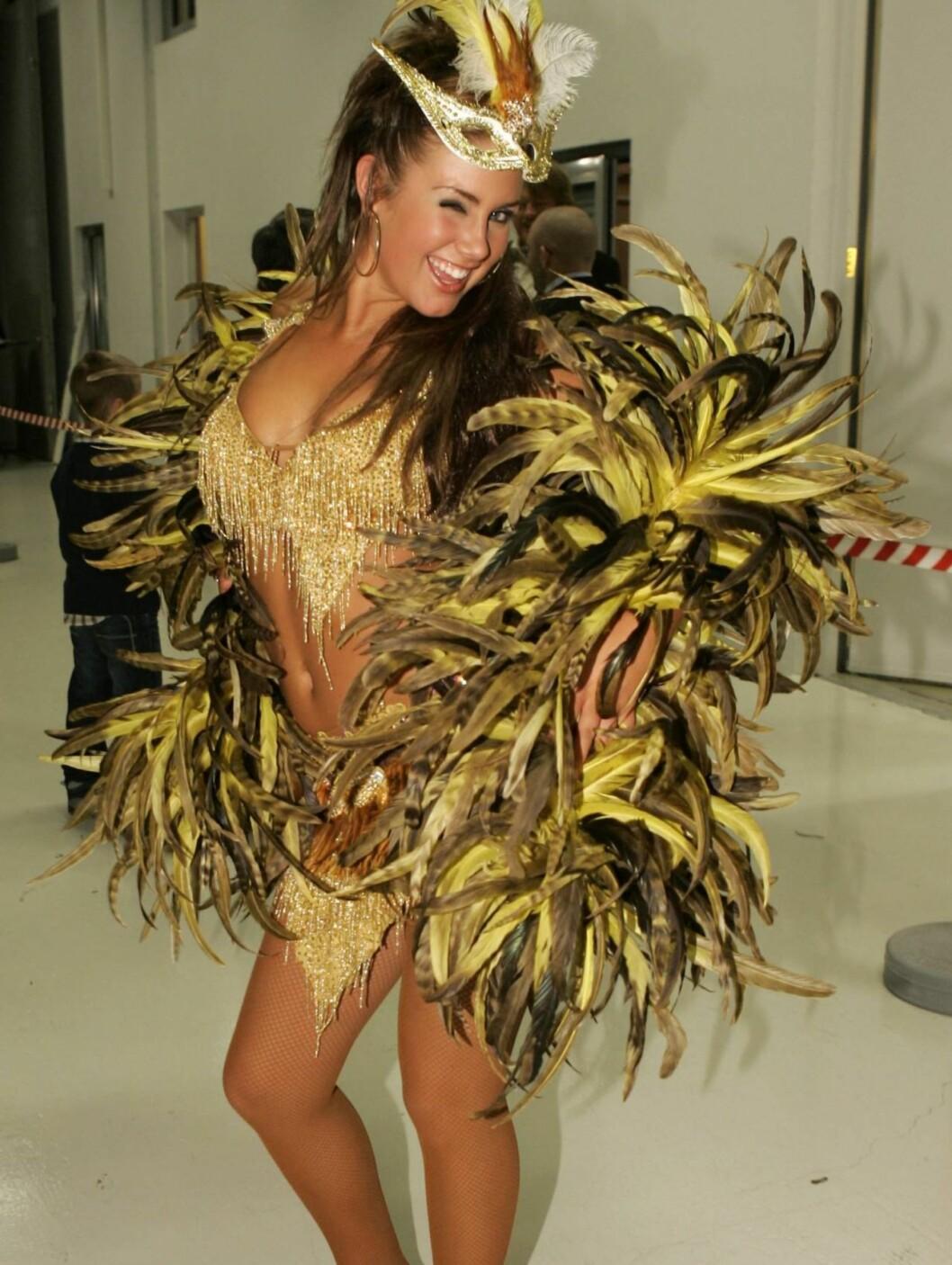 FJÆRPRYD: Artisten kom på tredjeplass i «Skal vi danse» i 2006.  Foto: Geir Egil Skog, frilansfoto.no