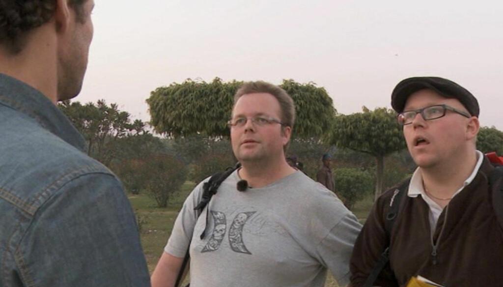 GA OPP: Pål Christian Egeberg (33)  og Ivar Juliussen (39) måtte mandag forlate «Amazing Race» på TV 2 etter at de kom sist i realityseriens andre etappe. Foto: TV 2