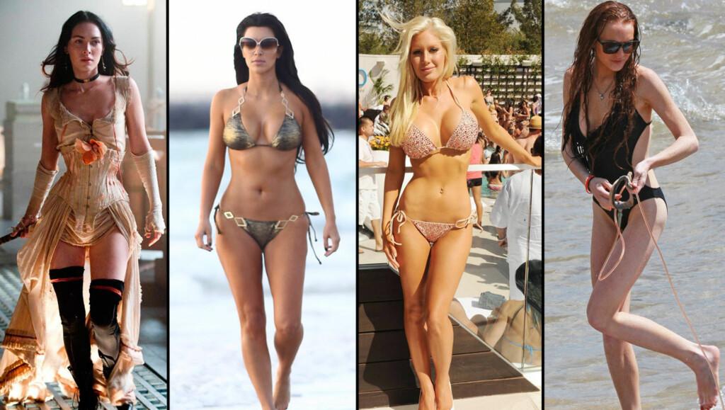 - DE OPERERTE SEG: Megan Fox, Kim Kardashian, Heidi Montag og Lindsay Lohan foretok alle skjønnhetsoperasjoner før de fylte 30, mener Radar Online. Og de er ikke alene. Foto: All Over Press / Stella Pictures