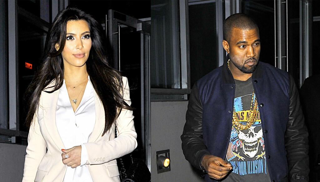 REISER PÅ LUKSUSFERIE: Kim Kardashian og Kanye West reiser til St. Lucia på musikkstjernens regning. Dette blir første gang de reiser som et offisielt par. Foto: All Over Press