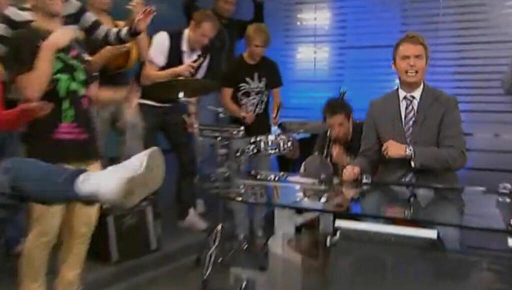RAPPET: NRKs Trygdekontoret døpte TV 2-Sportens musikkinnslag til «White men can´t jump».