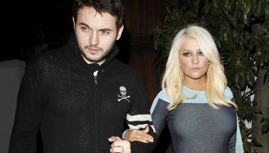 STØTTER CHRISTINA: Christina Aguileras kjæreste Matthew Rutler hevder han elsker artisten uansett hvordan hun ser ut. Foto: All Over Press