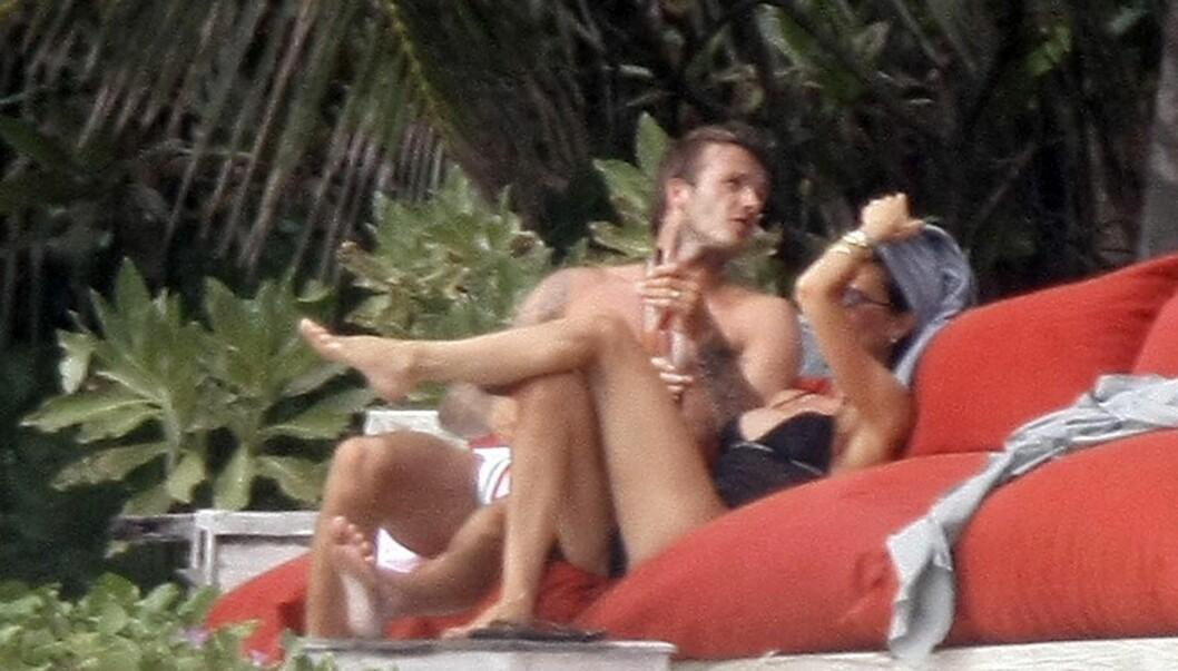 <strong>FERIE-LØGN:</strong> I forrige uke hevdet Victoria at hun ikke hadde hatt ferie på tre år, til tross for at hun hadde to måneder fri i fjor, og har vært i både St. Tropez og ved Como-sjøen i Italia.  Foto: All Over Press