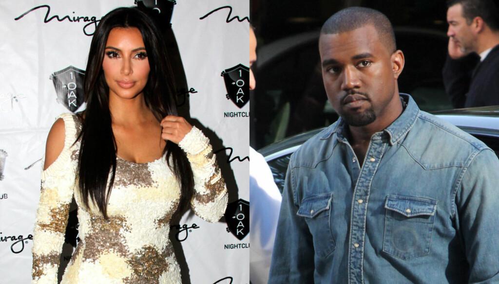 KOMMENTERER RYKTENE: Kim Karadashian hevder at det ikke er noen romanse mellom henne og Kanye West. Foto: All Over Press