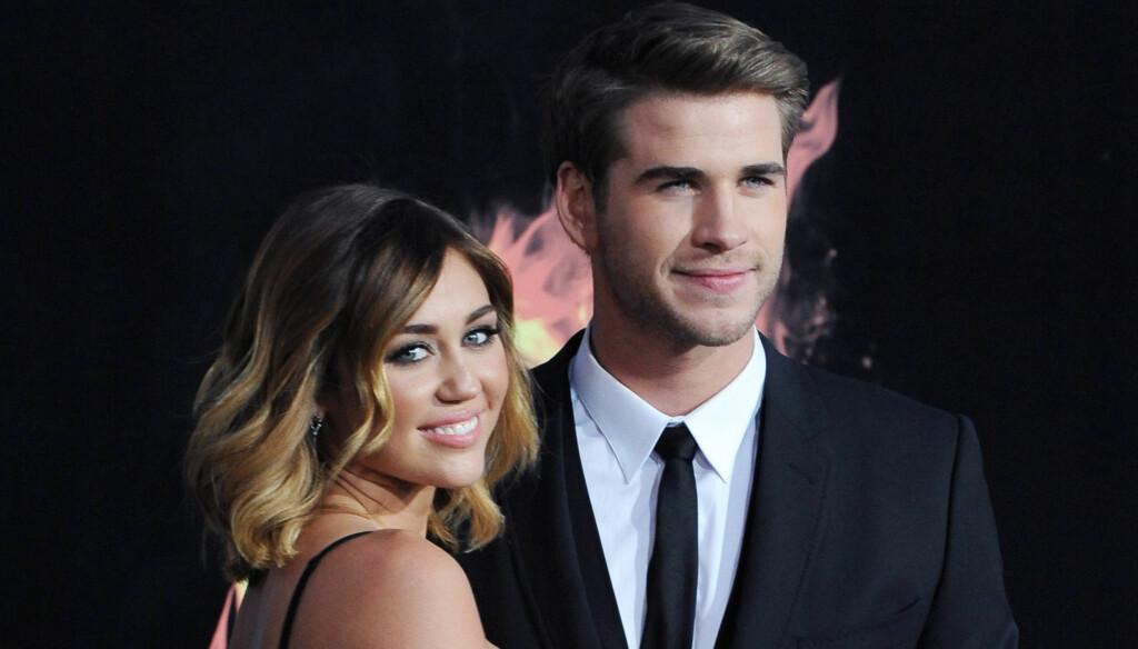 SNAKKER OM BRYLLUP: - De snakker seriøst om å gifte seg. Liam er gal etter henne, uttalte en kilde nylig. Nå går ryktene for fullt om Miley Cyrus og Liam Hemsworth. Foto: Stella Pictures