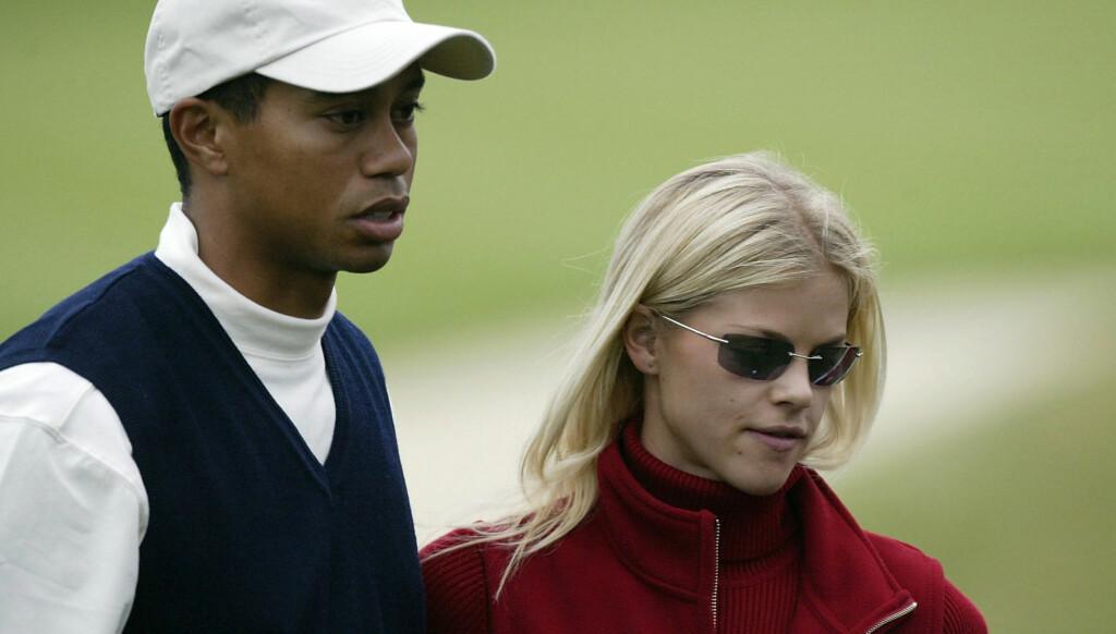 KJØLIG: Woods skal ha nektet Elin Nordegren å smile på golfbanen. Dersom hun gjorde det, følte Woods at hun la mer press på ham. Foto: All Over Press