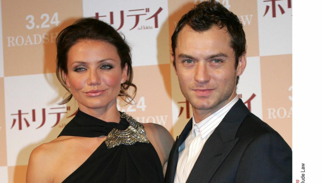 NYTT PAR? Cameron Diaz og Jude Law spilte kjærester i filmen «The Holiday» fra 2006. Nå kan filmstjernene ha blitt kjærester også i virkeligheten. Foto: All Over