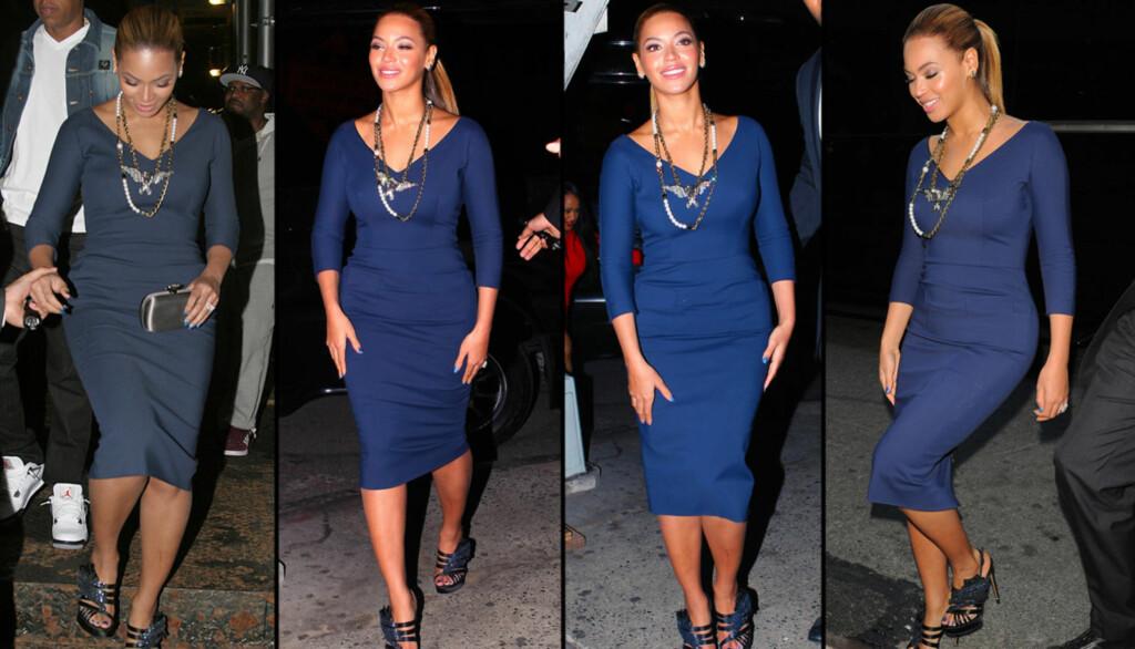 BABYVEKTEN BORTE: Beyonce viste fram superkroppen, og det virket nesten som om hun ikke hadde vært gravid i det hele tatt. Foto: All Over Press
