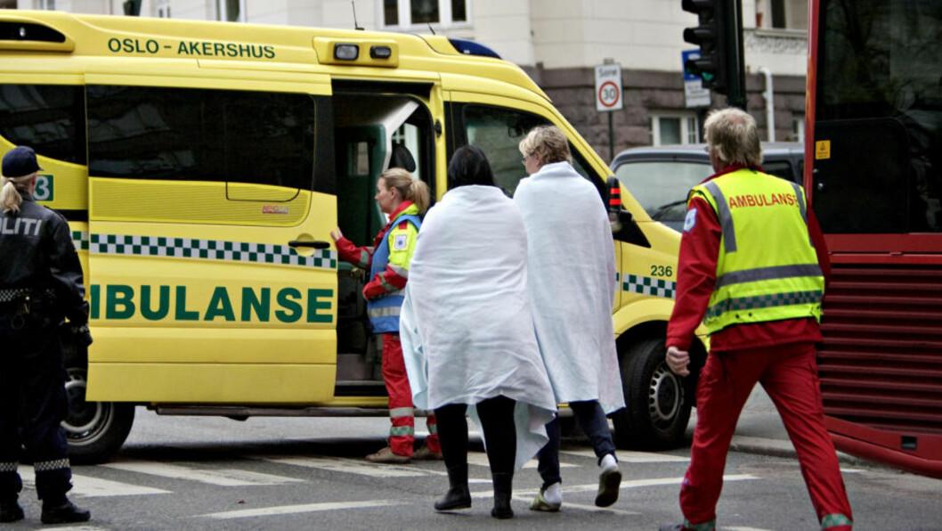 <strong> IKKE BERØRT:</strong>  Blålys-utrykninger, som her til en boligbrann i Bygdøy Alle i Oslo i begynnelsen av mai i år, er ikke berørt av ambulansesjåførenes streik, som ble trappet opp fra i morges.  Ingen kom alvorlig til skade i denne brannen. ILLUSTRASJONSFOTO: TORBJØRN GRØNNING/DAGBLADET.