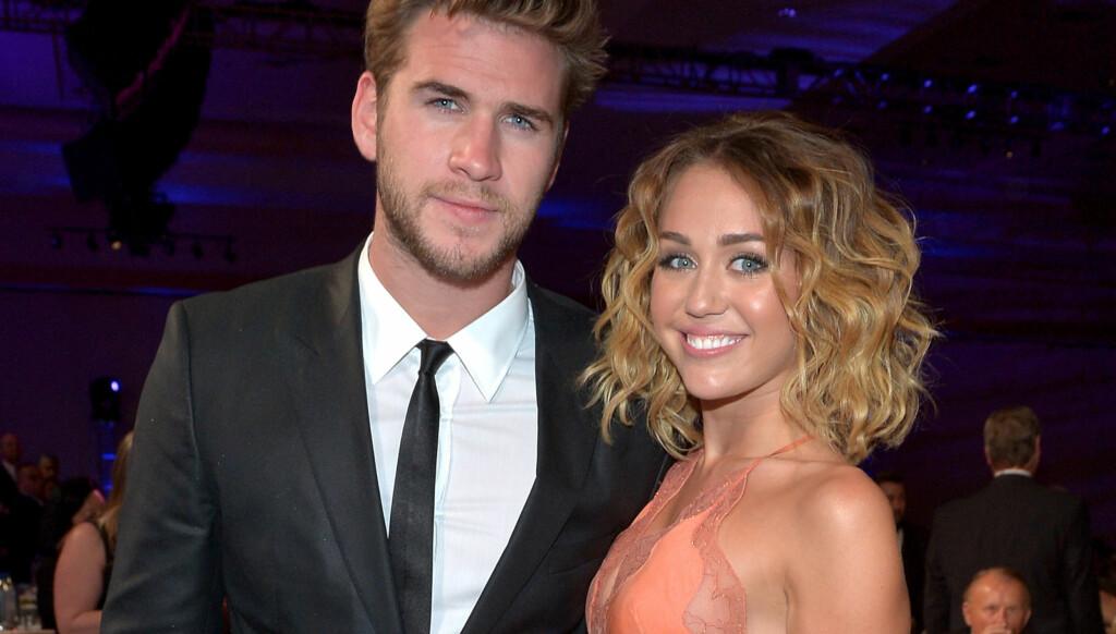 IKKE FORLOVET: Kilder hevder overfor nettstedet Us Magazine at Liam Hemsworth og Miley Cyrus ikke er forlovet. Foto: All Over Press