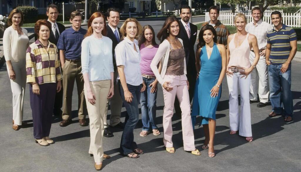 DREPER FLER: Mange av skuespillerne på dette bildet er blitt borte fra TV-skjermen de siste årene. Nå avsløres det at enda en av de mest fremtredende rollene i Frustrerte fruer skal tas liv av.  Foto: All Over Press