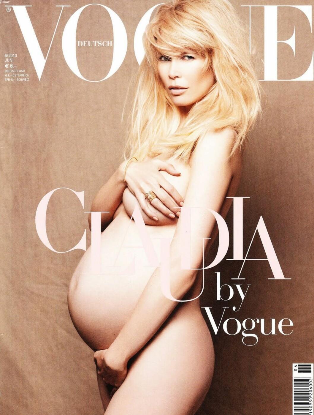 KOPIERTE DEMI: Claudia Schiffer. Foto: Faksimile Vogue
