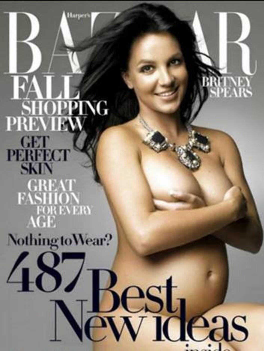 DEMI KOPI: Britney Spears. Foto: Faksimile Harpers Bazar