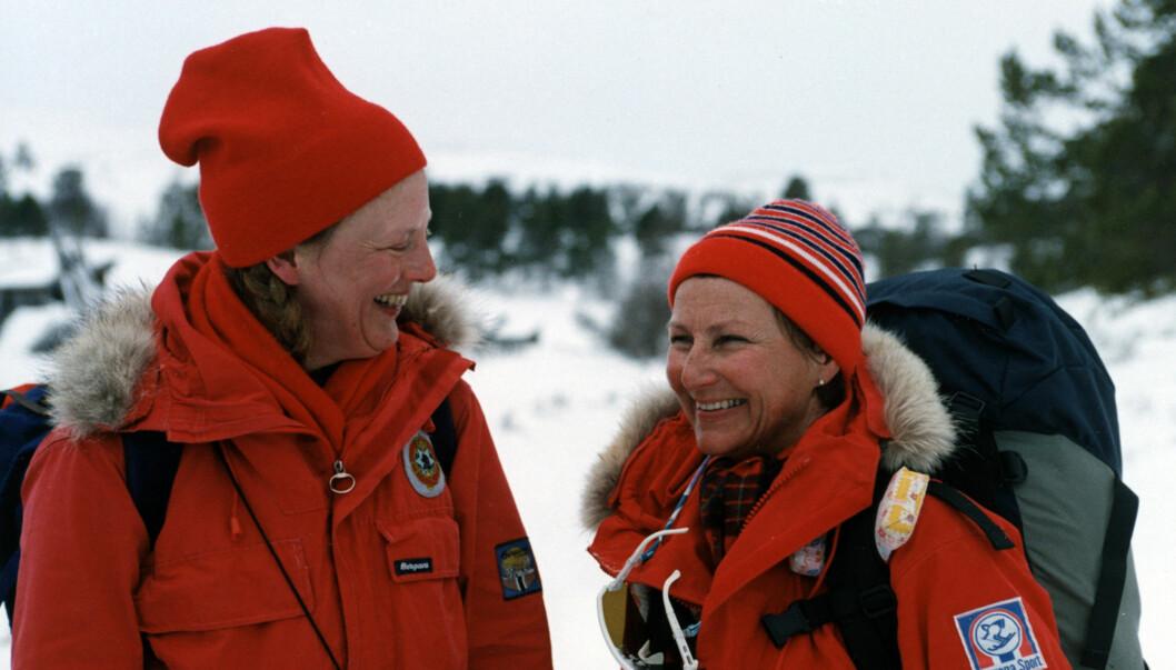 <strong>TURVENNINNER:</strong> Dronning Sonja og hennes danske kollega dronning Margrethe er nære venner og turkamerater. Foto: Scanpix