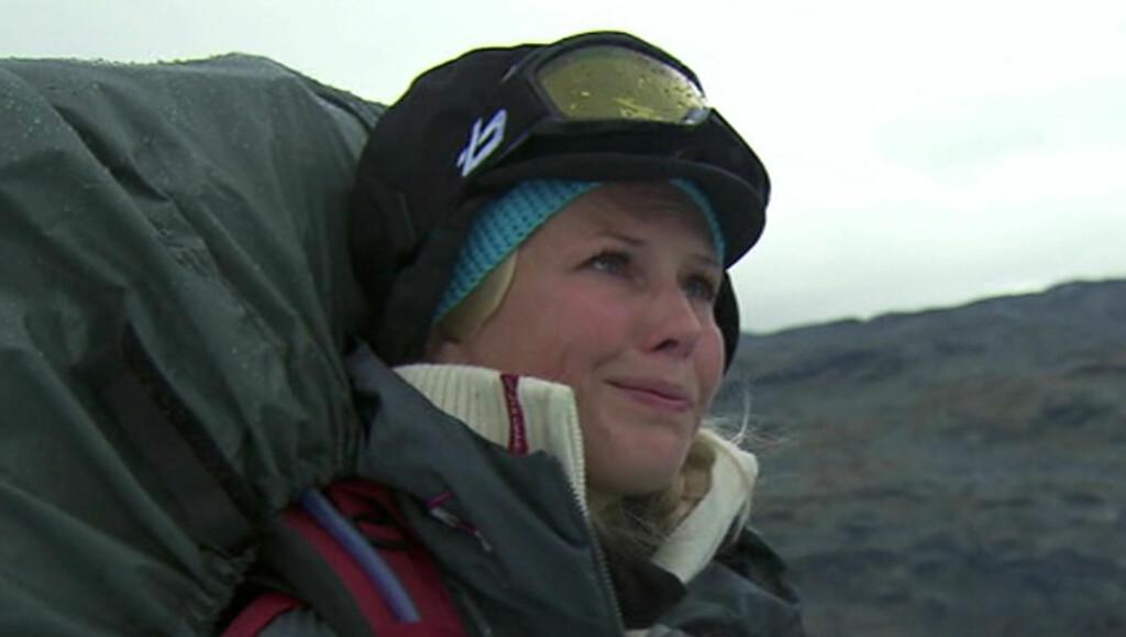 KJEMPET MOT TÅRENE: Smertene i hælen var så sterke at Klemetsen måtte ty til tårene. Foto: TVNorge