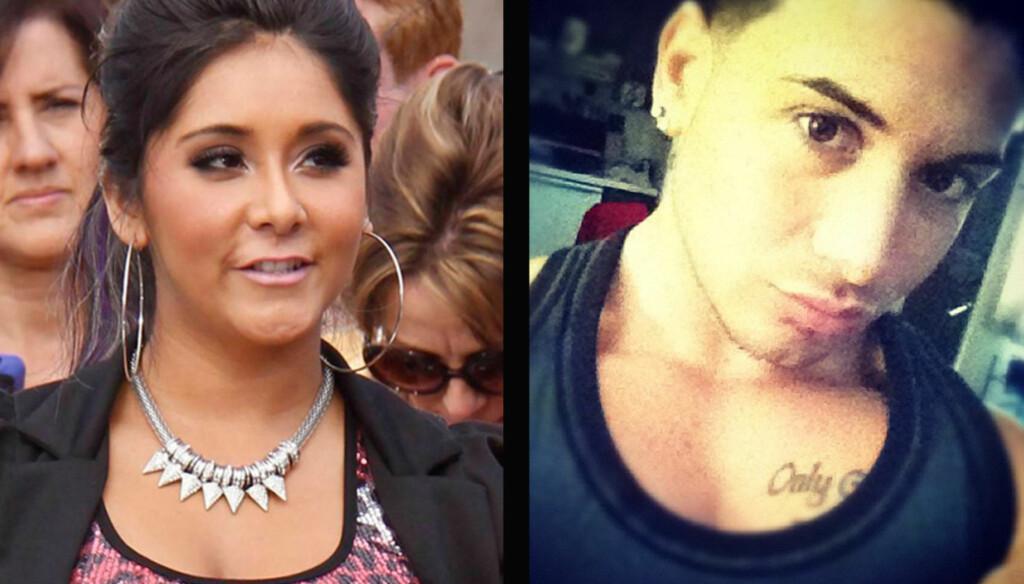 INGEN GRATULASJONER: Nicole «Snooki» Polizzi får alt annet enn lykkeønskninger fra eks-kjæresten Emilio Masella etter at det ble kjent at hun skal være gravid. Foto: All Over/Twitter