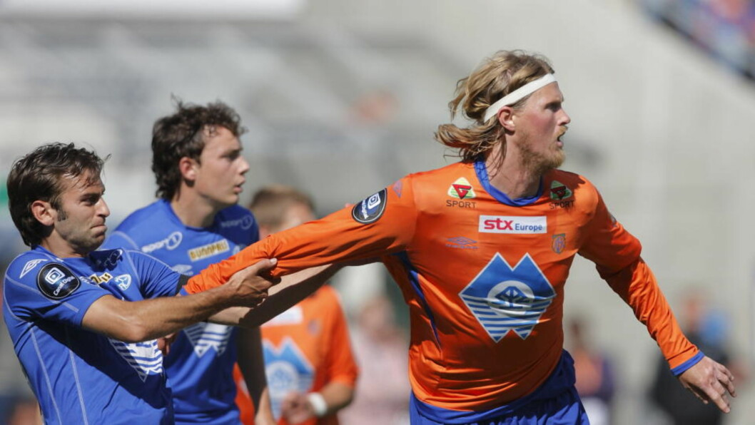 TRONSKIFTE? Molde slet voldsomt mot Thor Hogne Aarøy og Aalesund, men klarte likevel å ta med seg et poeng. FOTO: Svein Ove Ekornesvåg/ SCANPIX
