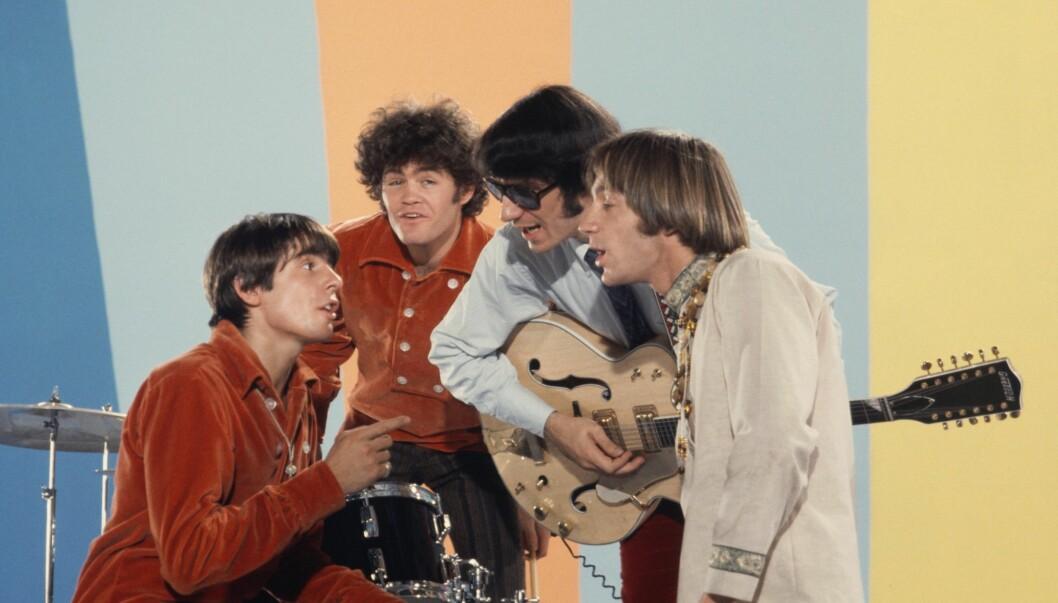 <strong>SUPERSTJERNER:</strong> Davy Jones, Mickey Dolenz, Peter Tork og Mike Nesmith var superpopulære på 1960-tallet som The Monkees. Dette bildet er fra 1967. Foto: All Over Press