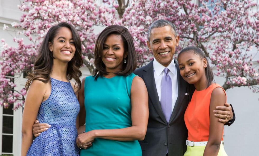 KNUSER DRØMMER: Barack Obama benektet at kona kommer til å stille til valg. Foto: NTB scanpix