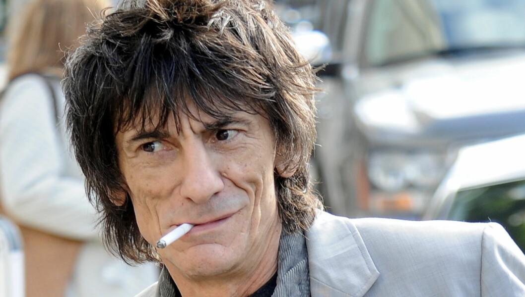 RUSFRI: Rolling Stones-gitarist Ronnie Wood har sluttet med rusmidler etter at det ikke lenger ga ham noen effekt. Foto: All Over Press