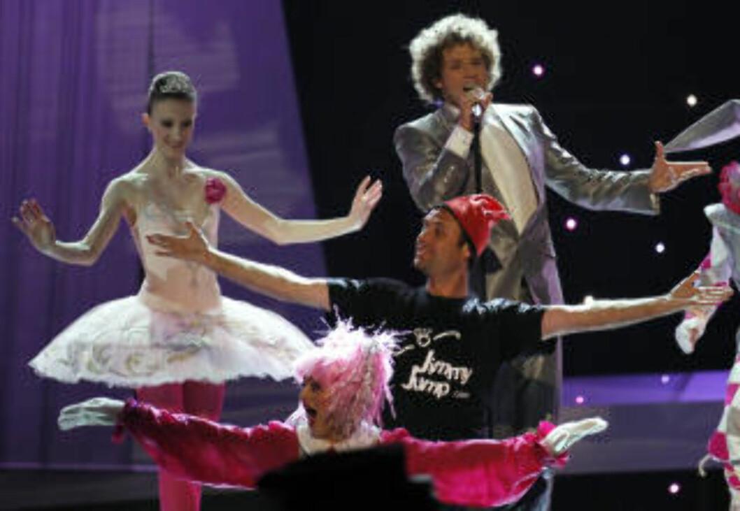 <strong>SIST SETT PÅ FORNEBU:</strong> Jimmy Jumps forrige opptreden, kom under Eurovision Song Contest i Telenor Arena i mai.Foto: SCANPIX