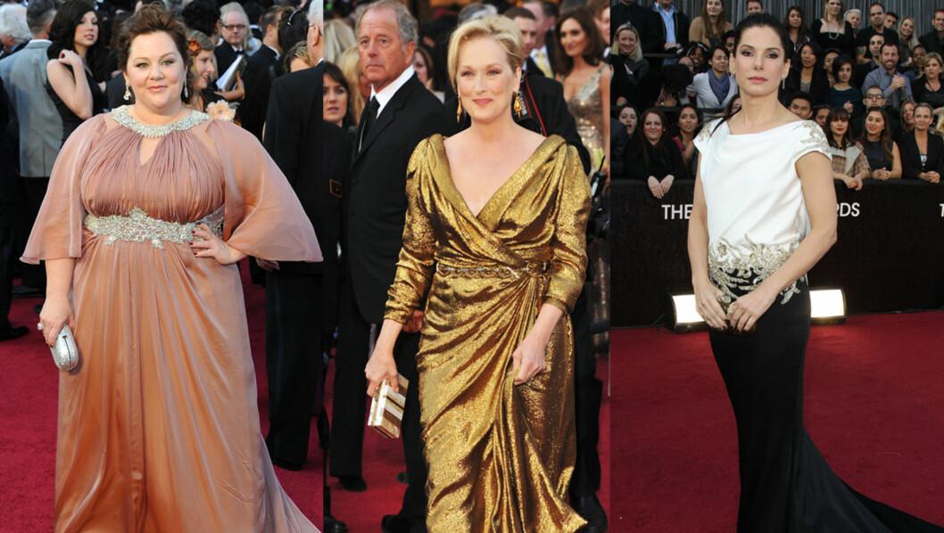 VERST KLEDD: Motekritikere verden over kaster seg over filmstjernene for å finne ut hvem som var minst heldige med kjolevalget under nattens Oscar-galla. Foto: All Over